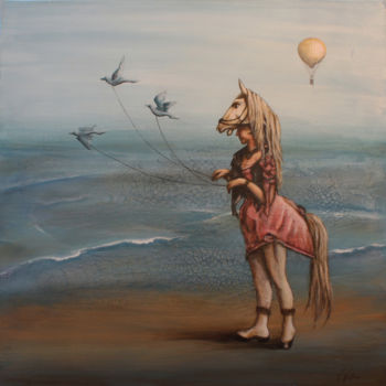 Painting, acrylic, surrealism, artwork by Victoria Wallace