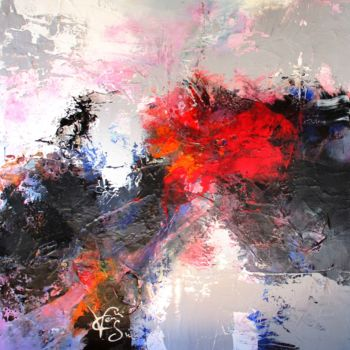 """Painting titled """"Energie"""" by Francis Vincensini, Original Art, Oil Mounted on Stretcher frame"""