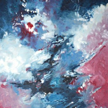 Painting, oil, abstract, artwork by Peppeluciani