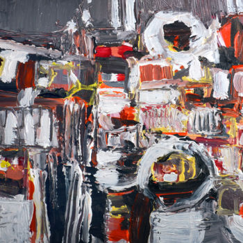 Painting, acrylic, abstract, artwork by Peppeluciani