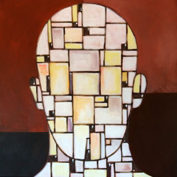 Painting, acrylic, cubism, artwork by Vitor Moinhos