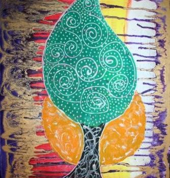 """Painting titled """"TRIBAL TREE"""" by Redreamer, Original Art, Other"""