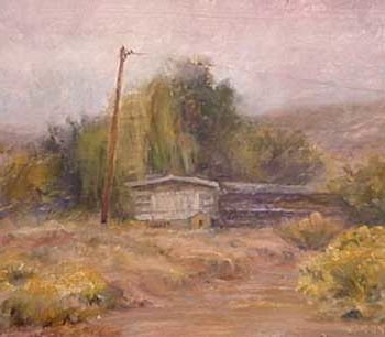 """Painting titled """"On Taos mode"""" by William Dunn, Original Art, Oil"""