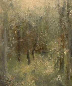 """Painting titled """"Glimpse"""" by William Dunn, Original Art, Oil"""