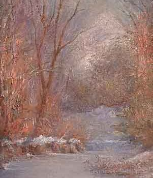 """Painting titled """"Winter morning"""" by William Dunn, Original Art, Oil"""