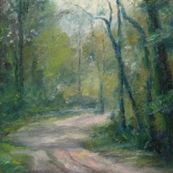 """Painting titled """"Forest road"""" by William Dunn, Original Art, Oil"""