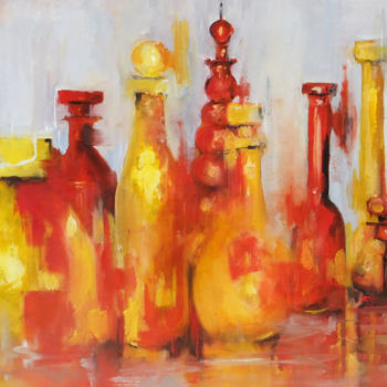 Color Painting, oil, impressionism, artwork by Yveline Javer