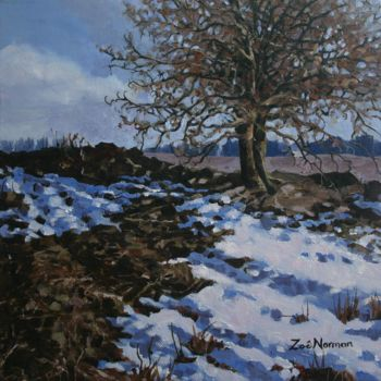 """Painting titled """"Winter Thaw"""" by Zoe Norman, Original Art, Oil"""