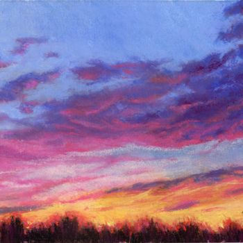 """Painting titled """"Autumn Glow"""" by Zoe Norman, Original Art, Pastel"""