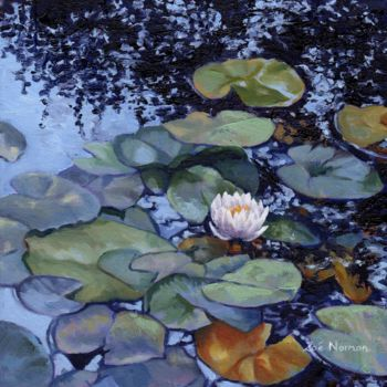 """Painting titled """"water-lily-at-giver…"""" by Zoe Norman, Original Art, Oil"""