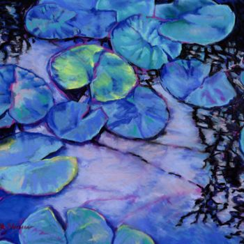 """Painting titled """"waterlily-study-in-…"""" by Zoe Norman, Original Art, Pastel"""
