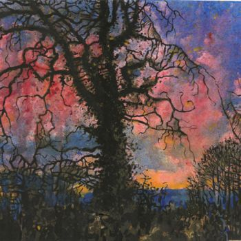 """Painting titled """"Old Oak"""" by Zoe Norman, Original Art, Watercolor"""