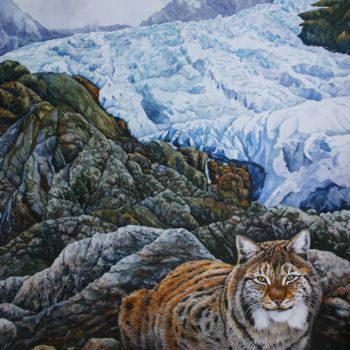 """Painting titled """"Glacial Heights"""" by Zoe Norman, Original Art, Watercolor Mounted on Cardboard"""