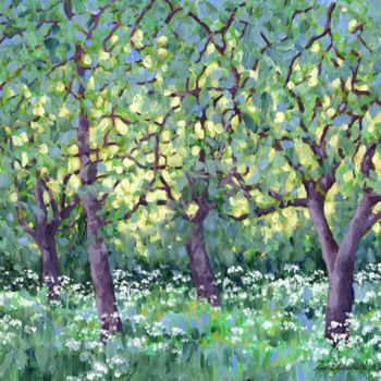 """Painting titled """"the-old-orchard-s.j…"""" by Zoe Norman, Original Art, Oil"""