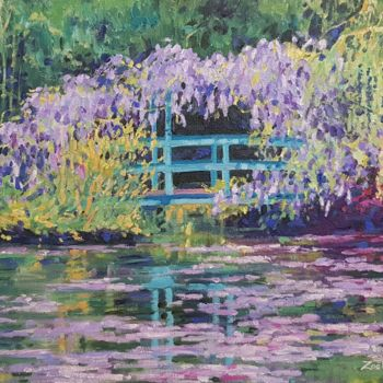 """Painting titled """"An Impressionist's…"""" by Zoe Norman, Original Art, Oil Mounted on Stretcher frame"""