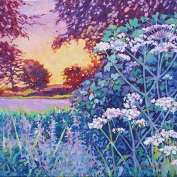 """Painting titled """"Afternoon Light"""" by Zoe Norman, Original Art, Oil Mounted on Stretcher frame"""