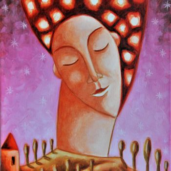 """Painting titled """"The soul of the vin…"""" by Zsolt Malasits, Original Art, Oil"""