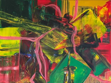 """Painting titled """"Energy painting 57"""" by Olita, Original Art, Acrylic Mounted on Stretcher frame"""