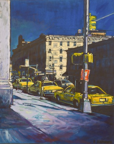"""Painting titled """"Night Streets of Ne…"""" by Patricia Clements Art, Original Art, Oil"""