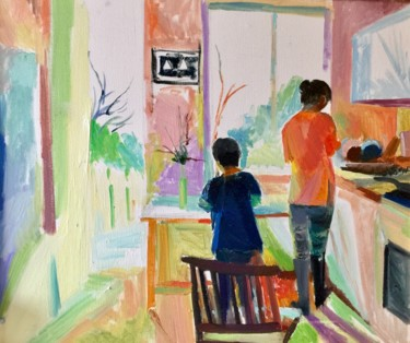 Everyday Life Painting, oil, figurative, artwork by Yixiao Li