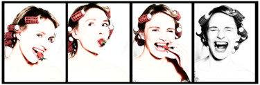 """Photography titled """"STRAWBERRY ADDICTED"""" by Jose Grimm, Original Art, Digital Photography"""