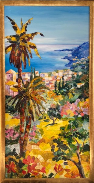 """Painting titled """"Summer in French Ri…"""" by Maryna Christenko, Original Art, Oil Mounted on Stretcher frame"""