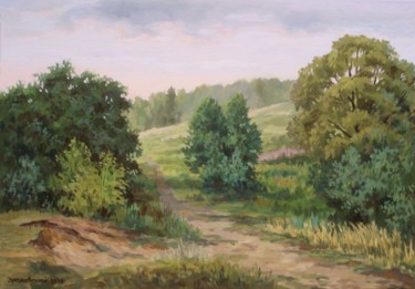 """Painting titled """"Warm evening at the…"""" by Arkady Zrazhevsky, Original Art, Oil"""