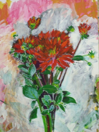 """Painting titled """"FLEUR 6"""" by A.Aplace Remi, Original Art, Acrylic"""