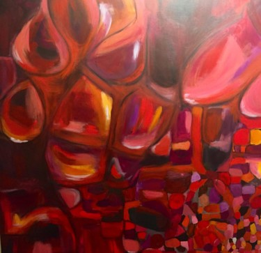 Abstract Painting, acrylic, abstract, artwork by Assia Assameur (ASSAMAS)