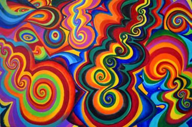 """Painting titled """"Candy Bar"""" by Aatmica Ojha, Original Art, Acrylic"""