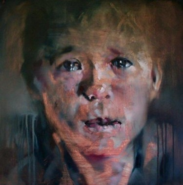 """Painting titled """"Crying"""" by Anthony Barrow, Original Art, Oil"""