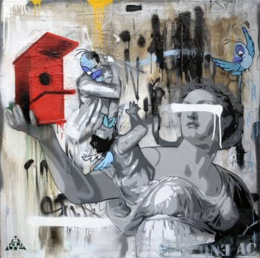Everyday Life Painting, spray paint, street art, artwork by Ac1