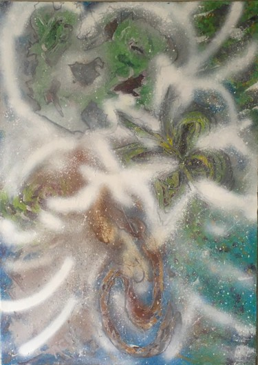 """Painting titled """"REBIRTH"""" by Anne-Claire Dutel-Grimard, Original Art, Acrylic Mounted on Stretcher frame"""