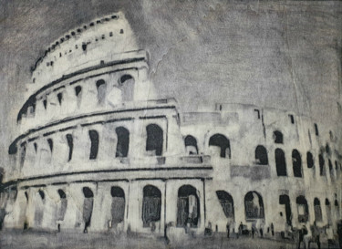 """Painting titled """"Roma - 02 - (n.016-…"""" by Alessio Mazzarulli, Original Art, Ink"""