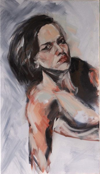 Feminine Painting, oil, figurative, artwork by Blanka Adamus