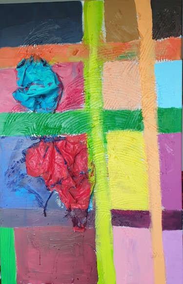 """Painting titled """"Squares"""" by Adel Fahmi, Original Art, Acrylic"""