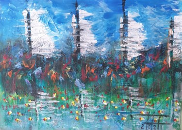 """Painting titled """"Harbour in heaven"""" by Adel Fahmi, Original Art, Acrylic"""