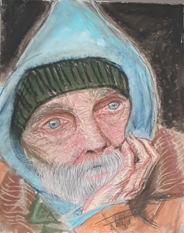 """Painting titled """"What a life"""" by Adel Fahmi, Original Art, Pastel"""