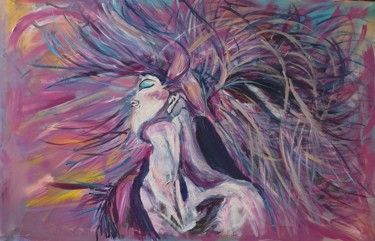 """Painting titled """"Lady in the storm"""" by Adel Fahmi, Original Art, Acrylic"""