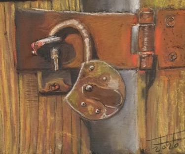 """Painting titled """"The beauty of rust 2"""" by Adel Fahmi, Original Art, Pastel"""