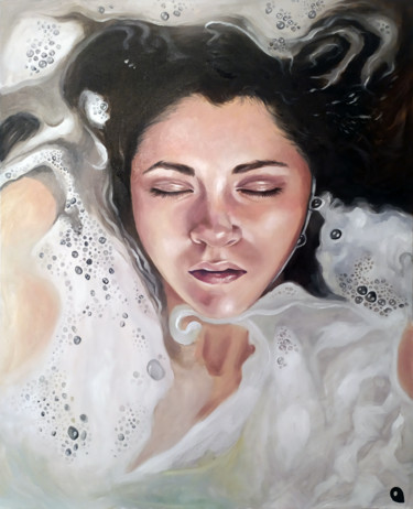 """Painting titled """"Bubbles of satisfac…"""" by Adelacreative, Original Art, Oil"""
