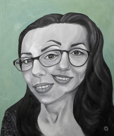 """Painting titled """"Portrait Duality Co…"""" by Adelacreative, Original Art, Oil"""