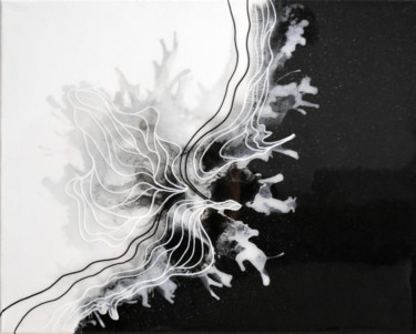 """Painting titled """"Black and white, Re…"""" by Adelacreative, Original Art, Acrylic Mounted on Stretcher frame"""