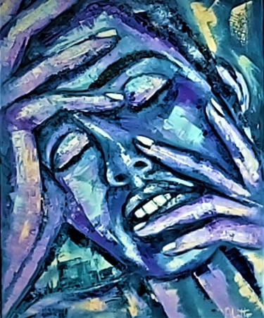 Painting, oil, expressionism, artwork by Adriaan Lotter