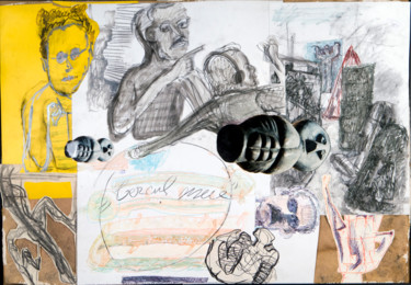 Drawing, collages, figurative, artwork by Adrian Uncrut