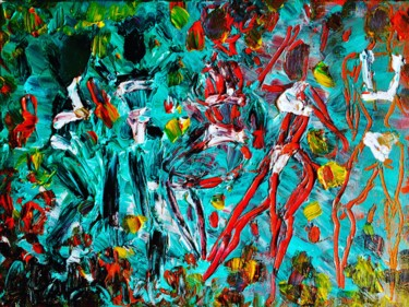 Painting, acrylic, abstract, artwork by Afaf