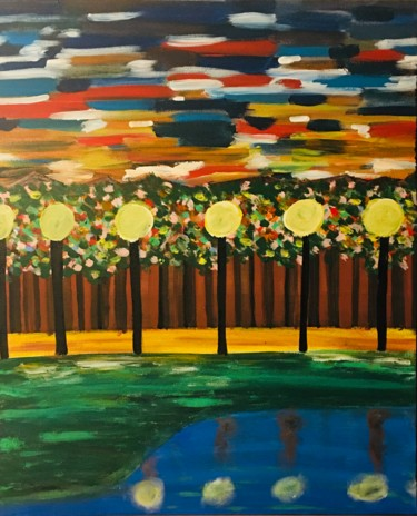 """Painting titled """"Dizzy"""" by Affaf Asif, Original Art, Acrylic"""