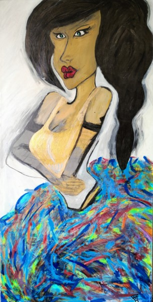 """Painting titled """"My Iconic love"""" by Agata Masna, Original Art, Acrylic"""