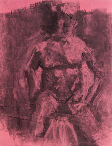 """Drawing titled """"seated nude"""" by Terri, Original Art, Other"""