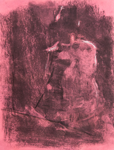 """Drawing titled """"rear view of seated…"""" by Terri, Original Art, Other"""
